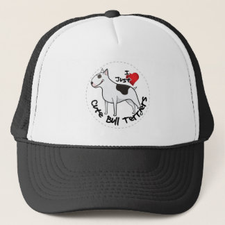 Happy Adorable Funny & Cute Bull Terrier Dog Trucker Hat
