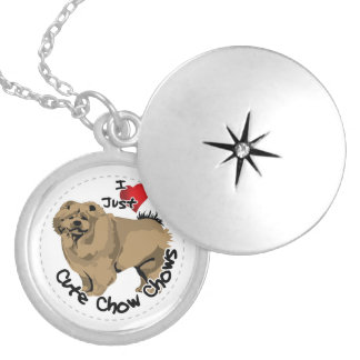 Happy Adorable Funny & Cute Chow Chow Dog Silver Plated Necklace