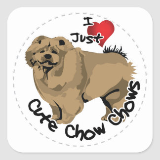Happy Adorable Funny & Cute Chow Chow Dog Square Sticker