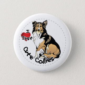 Happy Adorable Funny & Cute Collie Dog 6 Cm Round Badge