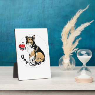 Happy Adorable Funny & Cute Collie Dog Photo Plaque