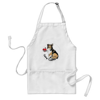 Happy Adorable Funny & Cute Collie Dog Standard Apron