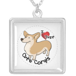 Happy Adorable Funny & Cute Corgi Dog Silver Plated Necklace