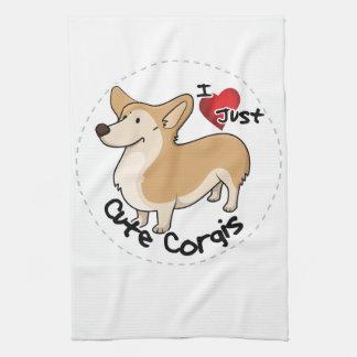 Happy Adorable Funny & Cute Corgi Dog Tea Towel