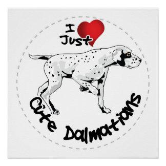 Happy Adorable Funny & Cute Dalmatian Dog Poster