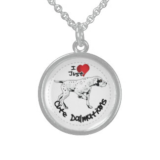 Happy Adorable Funny & Cute Dalmatian Dog Sterling Silver Necklace