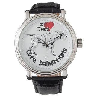 Happy Adorable Funny & Cute Dalmatian Dog Wristwatch