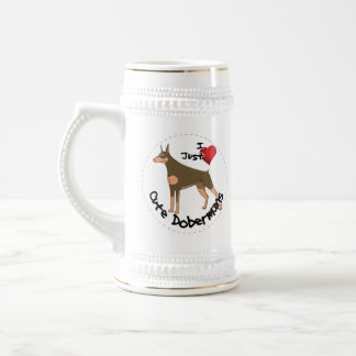 Happy Adorable Funny & Cute Doberman Dog Beer Stein