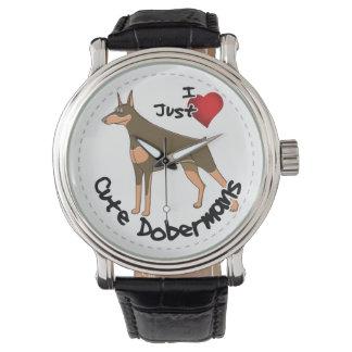 Happy Adorable Funny & Cute Doberman Dog Watch