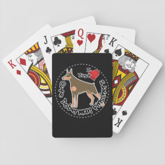 Happy Adorable Funny & Cute Doberman Pinscher Dog Playing Cards