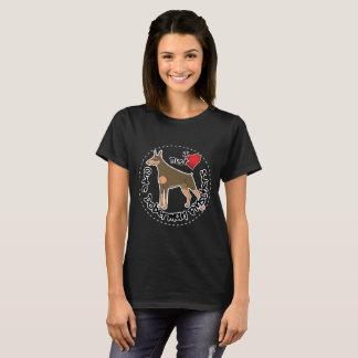 Happy Adorable Funny & Cute Doberman Pinscher Dog T-Shirt