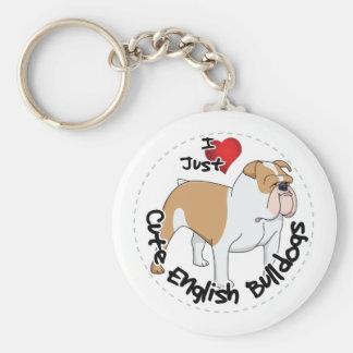 Happy Adorable Funny & Cute English Bulldog Dog Key Ring