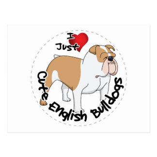 Happy Adorable Funny & Cute English Bulldog Dog Postcard