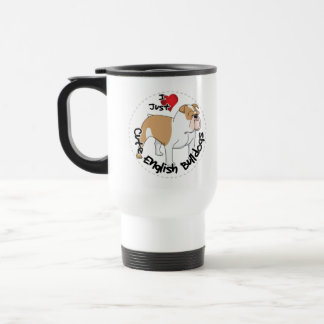 Happy Adorable Funny & Cute English Bulldog Dog Travel Mug