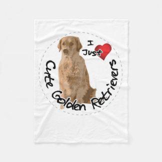 Happy Adorable Funny & Cute Golden Retriever Dog Fleece Blanket