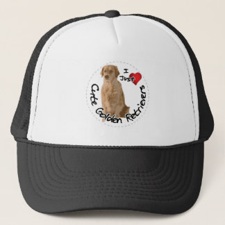 Happy Adorable Funny & Cute Golden Retriever Dog Trucker Hat