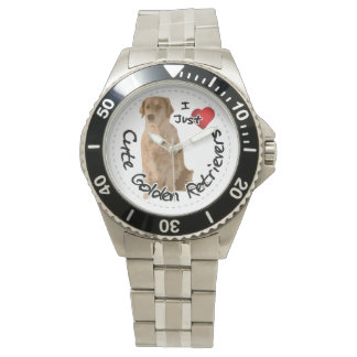 Happy Adorable Funny & Cute Golden Retriever Dog Wrist Watches