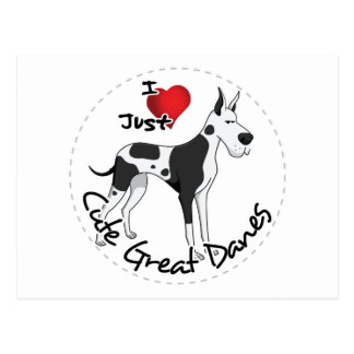 Happy Adorable Funny & Cute Great Dane Dog Postcard