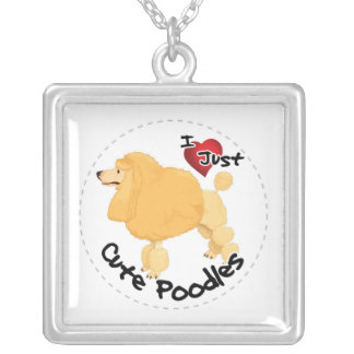 Happy Adorable Funny & Cute Poodle Dog Silver Plated Necklace