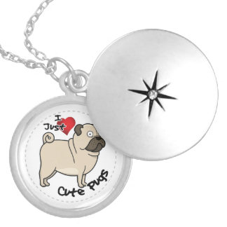 Happy Adorable Funny & Cute Pug Dog Locket Necklace