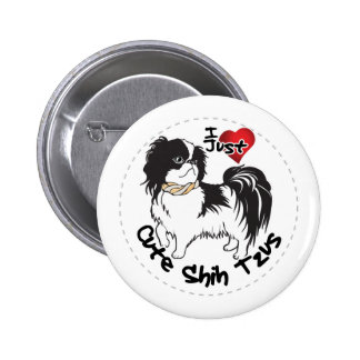 Happy Adorable Funny & Cute Shih Tzu Dog 6 Cm Round Badge
