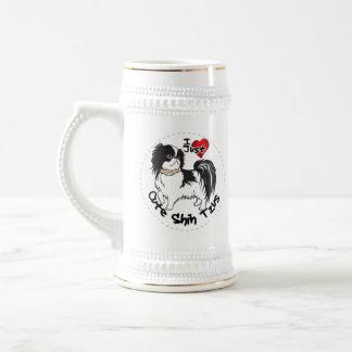 Happy Adorable Funny & Cute Shih Tzu Dog Beer Stein