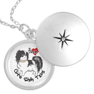 Happy Adorable Funny & Cute Shih Tzu Dog Locket Necklace