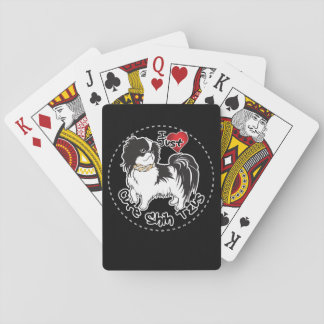 Happy Adorable Funny & Cute Shih Tzu Dog Playing Cards