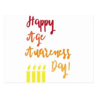 Happy age awareness day funny birthday postcard