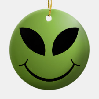 Happy Alien Face Christmas Tree Ornament