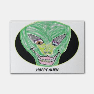 Happy Alien Post-it Notes