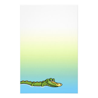Happy Alligator Scrapbook Stationery