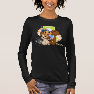 """""""Happy and friend"""" by Happy Long Sleeve T-Shirt"""