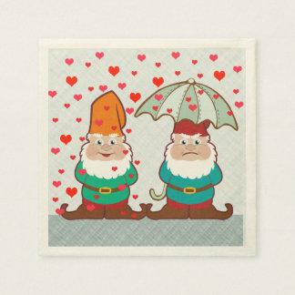Happy and Grumpy Gnomes Paper Napkins