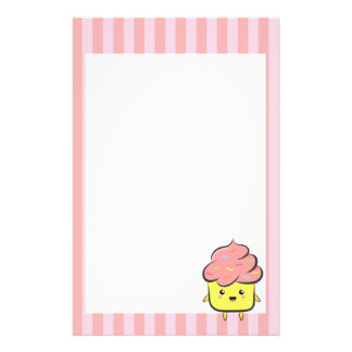 Happy and Kawaii cupcake with colorful sprinkles Stationery