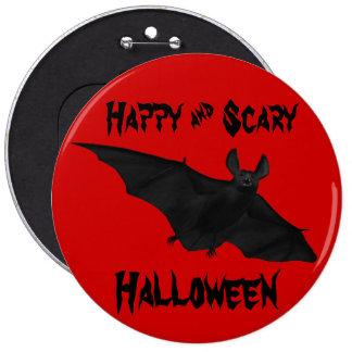 Happy and Scary Halloween Vampire Bat Pin