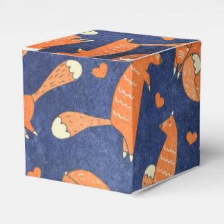 Happy animal fox pattern favour box