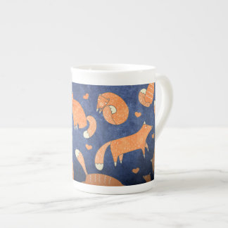 Happy animal fox pattern tea cup