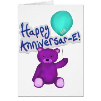 Happy Anniversar-E Bear Card