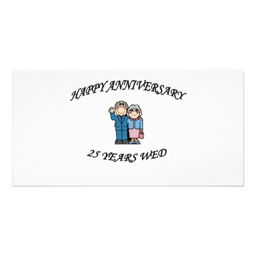 HAPPY ANNIVERSARY 25 PHOTO CARD TEMPLATE