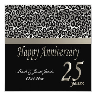Happy Anniversary 25 Years 13 Cm X 13 Cm Square Invitation Card
