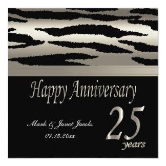 Happy Anniversary 25 Years 13 Cm X 13 Cm Square Invitation Card