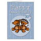 happy anniversary bears - 30 year card