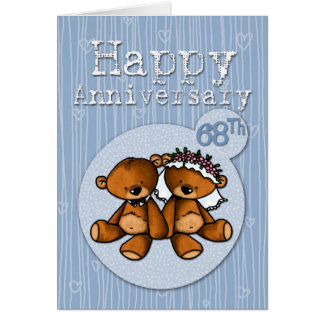 happy anniversary bears - 68 year card