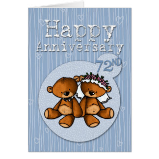 happy anniversary bears - 72 year card