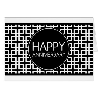 Happy Anniversary (cinderStripe) Greeting Card