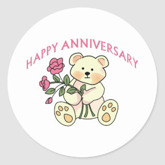 Happy Anniversary Classic Round Sticker
