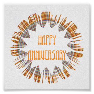 HAPPY ANNIVERSARY:  Edit text to your own OCCASION Poster