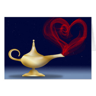 Happy Anniversary Genie Lamp with Heart Card