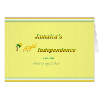 Happy Anniversary Jamaica 55th Card